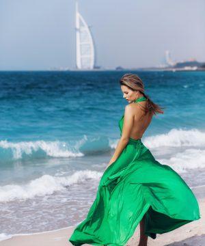 green dress,long dress, multi dress, infinity dress, convertible dress, homecoming dress, cocktail dress, dubai