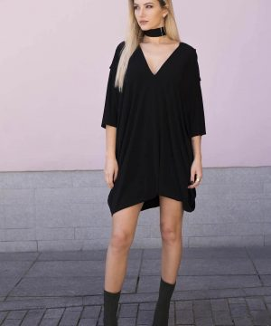 Black Oversized Dress 1