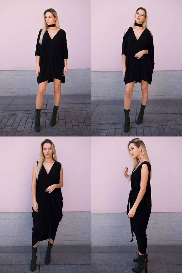 Black Oversized Dress, chis dress