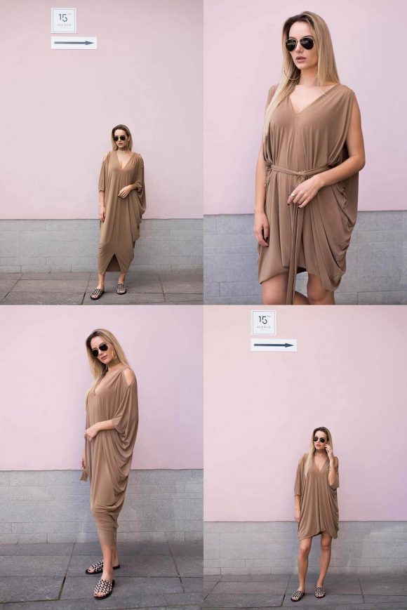 Brown casual dress, Oversized Dress