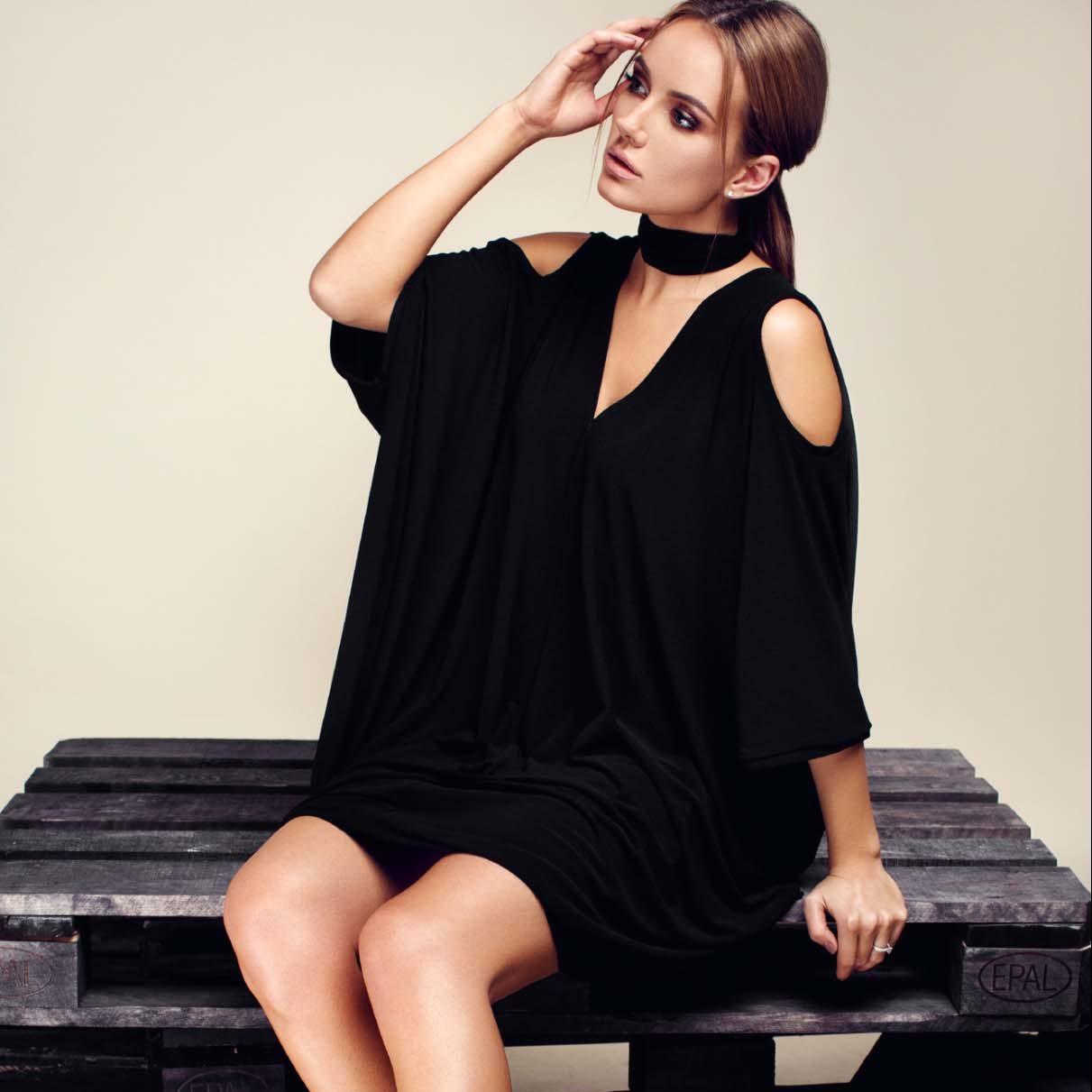 Black Convertible Dress Hanna Top To Bottom Fashion