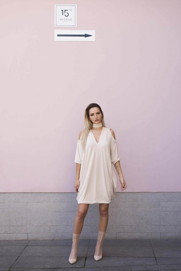 Creme Oversized Dress, Convertible Dress
