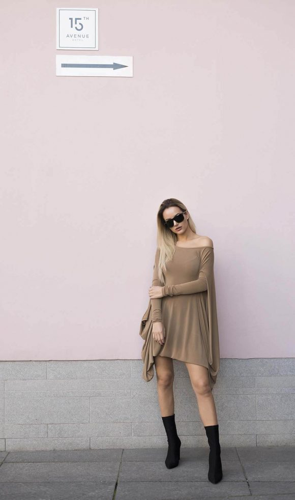 Brown Convertible Dress