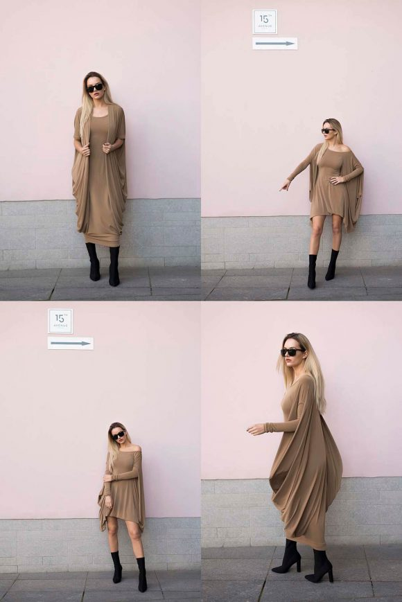 Brown Convertible Dress 2