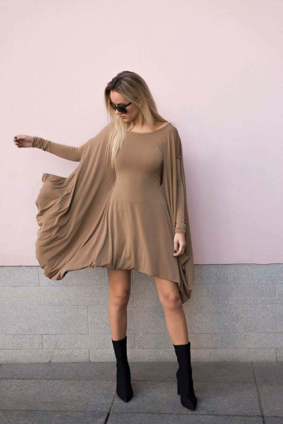 Brown Convertible Dress 3