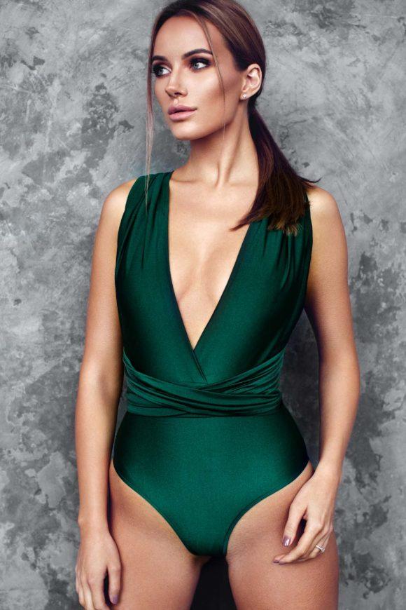 Emerald swimsuit, multiway bathing suit, infinity swimsuit