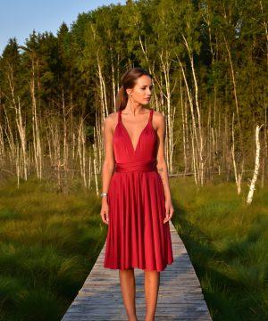 Bordeaux dress, mini dress, multi dress, infinity dress, convertible dress, homecoming dress, cocktail dress