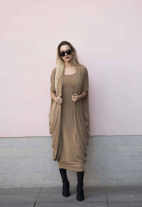 Brown Convertible Dress 4