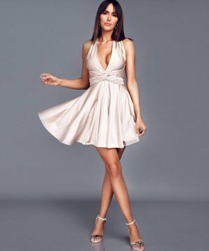 Latte color multi dress