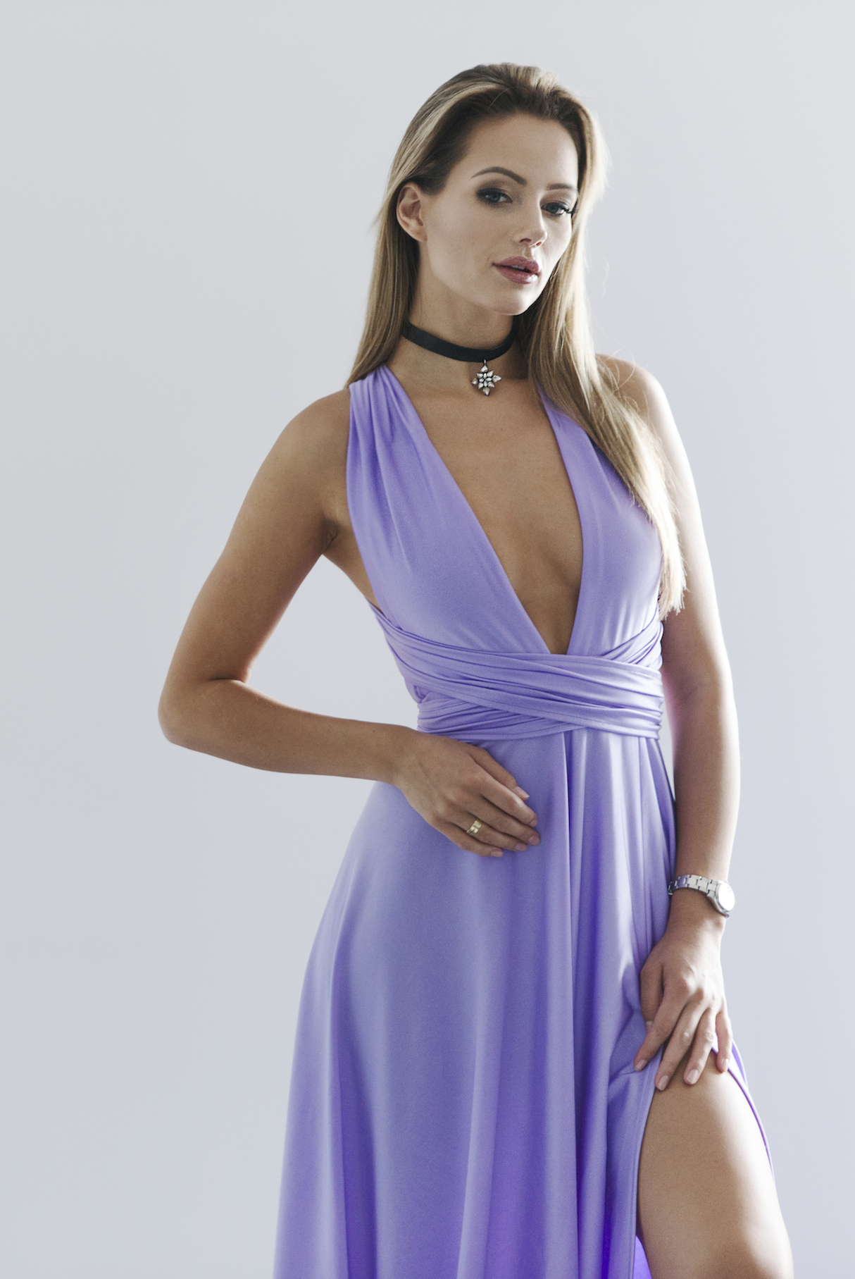 lilac color multi dress top to bottom fashion