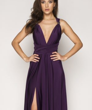 eggplant color dress,eggplant dress, multi dress, infinity dress, convertible dress, homecoming dress, cocktail dress