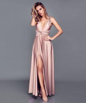 Nude color multi dress