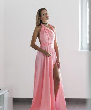 peach color dress,peachy dress, multi dress, infinity dress, convertible dress, homecoming dress, cocktail dress
