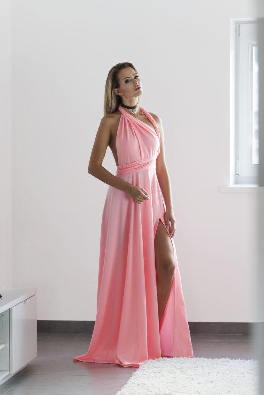 Peach color multi dress   Top To Bottom Fashion