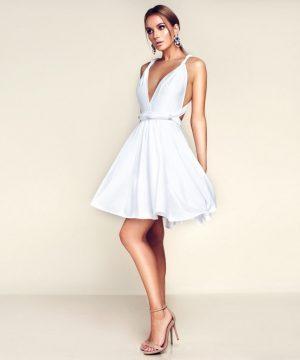 White multi dress