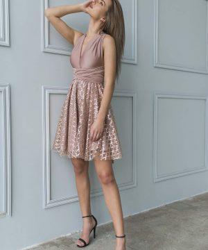 Nude Tulle Dress, Multiay Dress