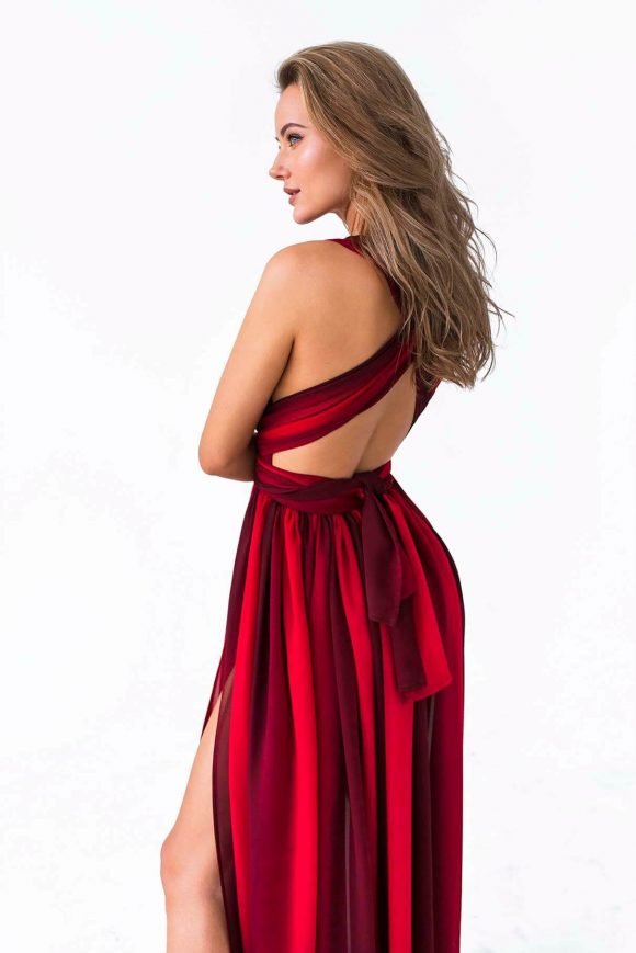 Red Infinity Dress, Shiffon Dresss