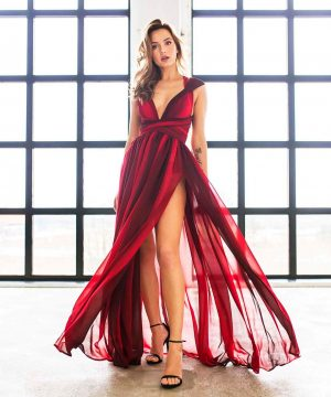 Red Multiway Dress, Prom Dress, Elegant Dress