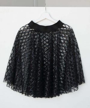 Black Sequin Tulle Skirt