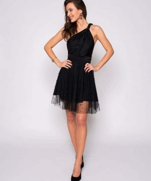 Black Tulle Skirt With Bubbles
