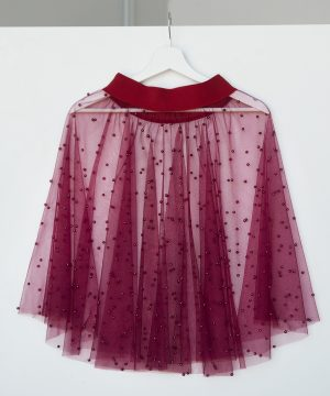 Bordeaux Skirt, Tulle Skirt