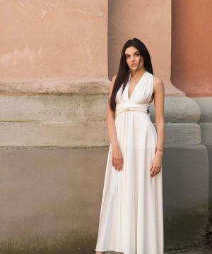 Milk White Convertible Dress