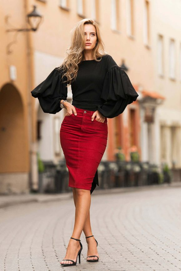 Black Wrap Over Blouse..