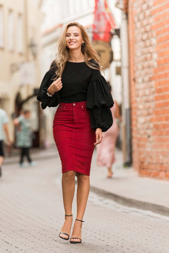 Black Wrap Over Blouse.....
