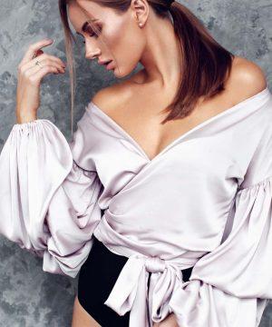 v-neck blouse, wrap-over blouse