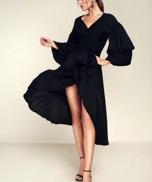 v-neck dress, wrap-over dress