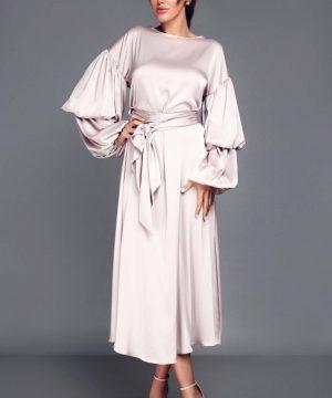 Elegant dress, wrap-over dress