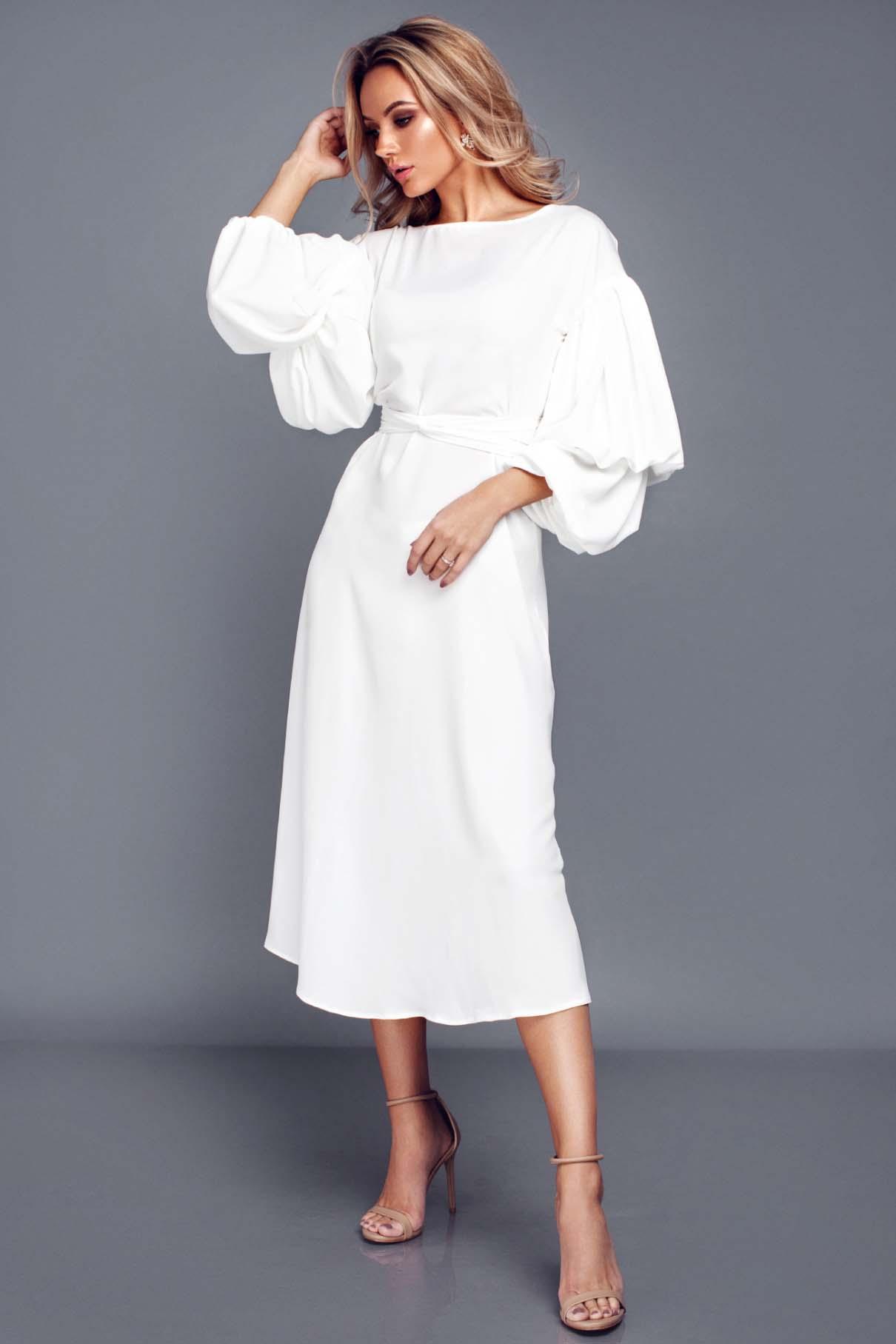 88006d5d76a White wrap-over dress