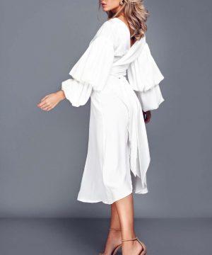 Bridal dress, wrap-over dress