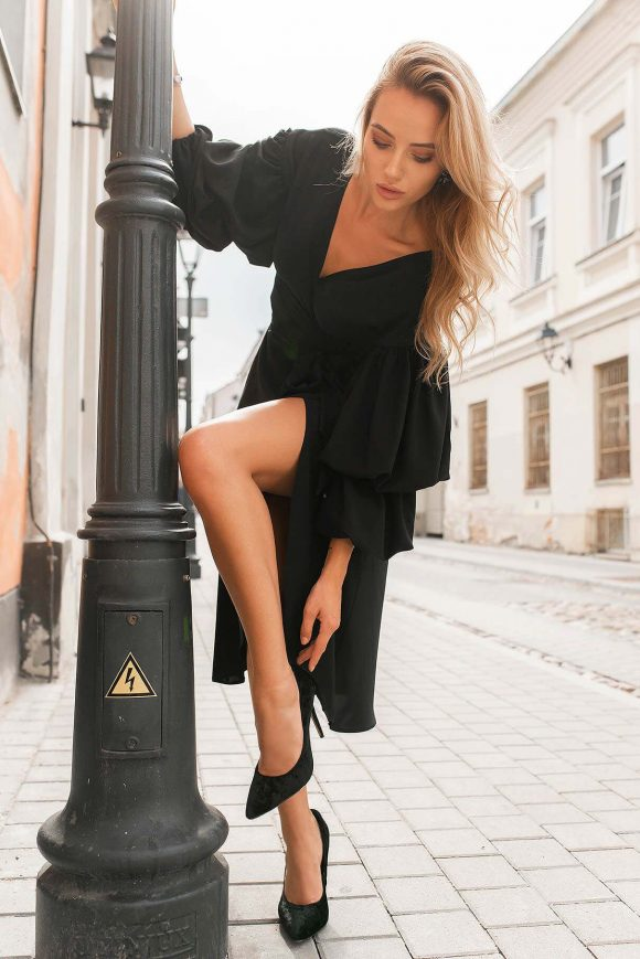 Black Wrap Over Dress...