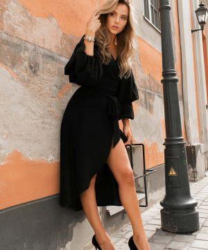 Black Wrap Over Dress.....