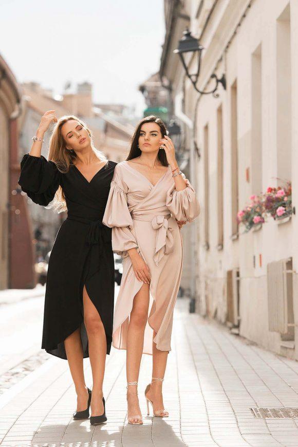 Cappucino Color Wrap Over Dress....
