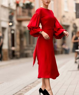 Red Wrap Over Dress