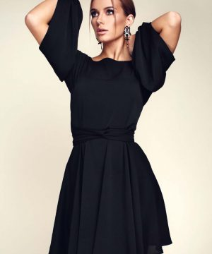 Little black dress, wrap-over dress