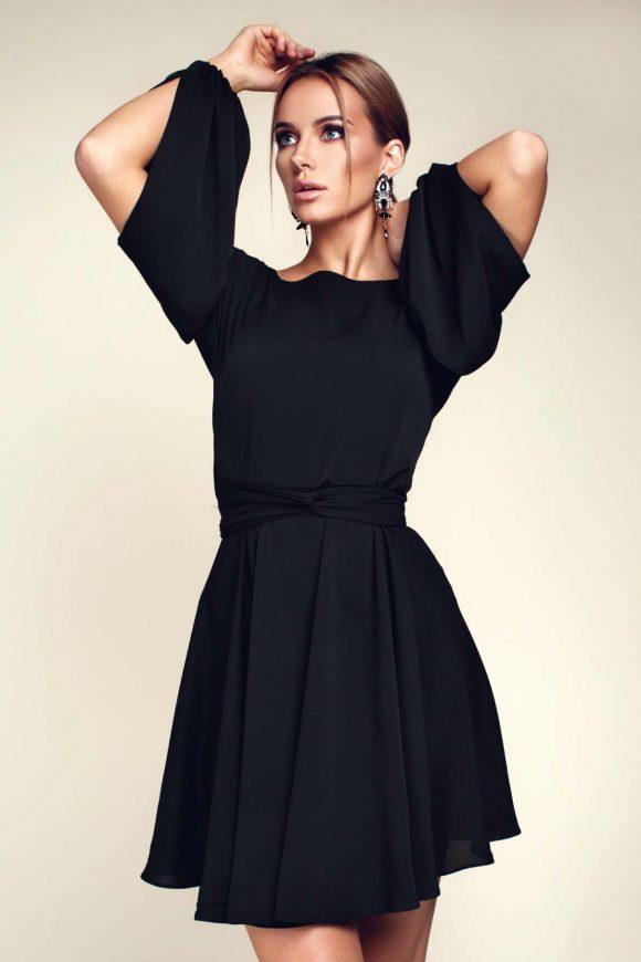 Little black dress, wrap-over dress