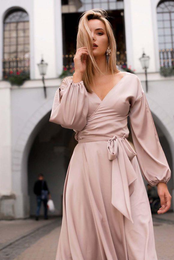 Mid Length Convertible Dress, Capuccino Dress