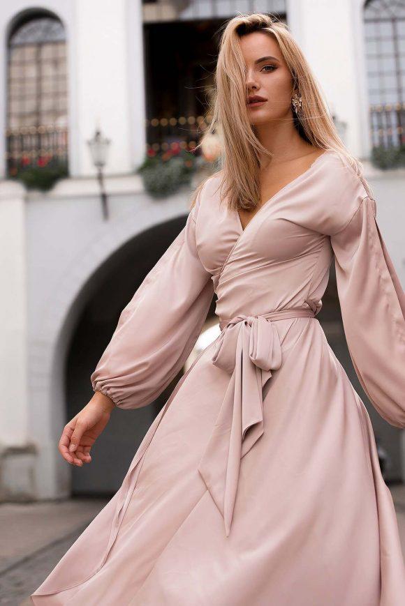 Mid Length Convertible Dress, V Neck Dress