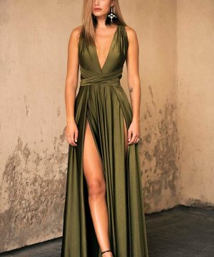 Khaki Convertible Dress..