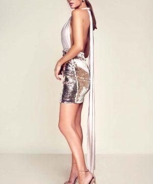 Sequin pencil dress, infinity dress