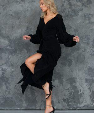 Evening dress, wrap-over dress, cocktail dress, convertible dress,