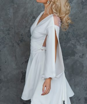 Bridal dress, convertible dress, short dress