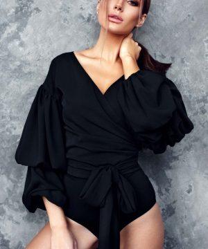 Convertible blouse, wrap-over blouse
