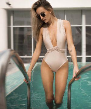 Latte Color Swimsuit