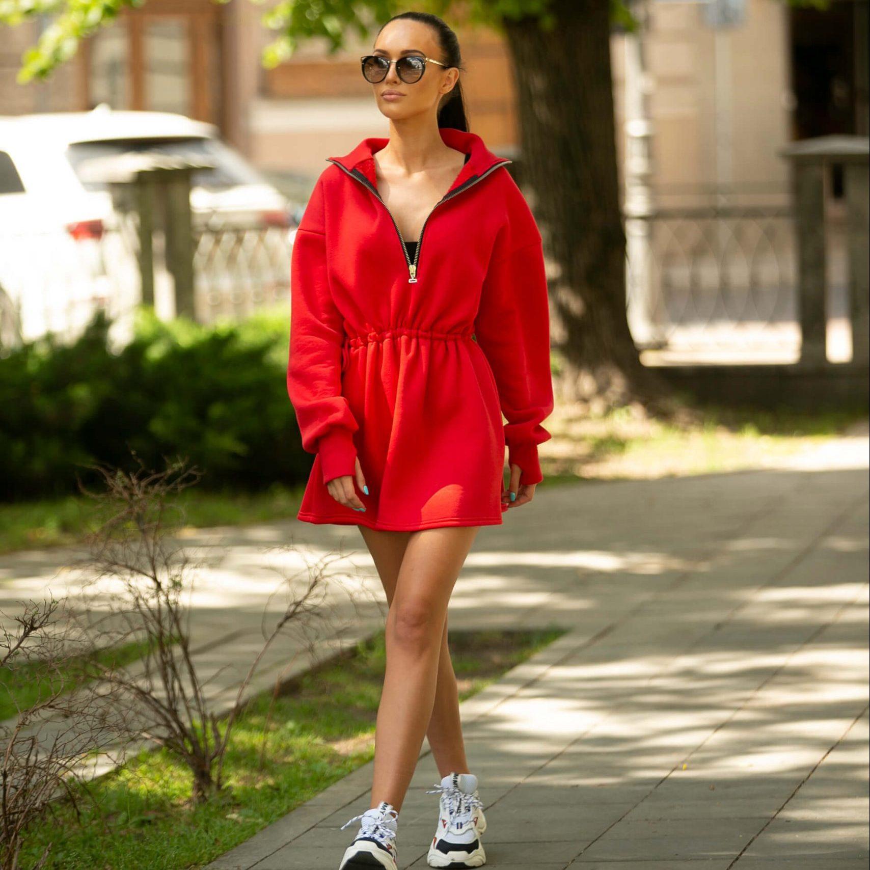Loungewear dress Jumper dress Black hoodies dress Red womens sweatshirt dress Nude oversized hoodie dress Handmade by TTBFASHION