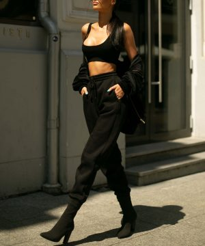 Oversized Joggers Black Top To Bottom