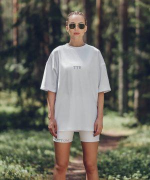 Stylish Tshirt For Women White Top To Bottom